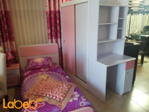 Single room For girls 4 pieces Latte Wood Pink and Purple
