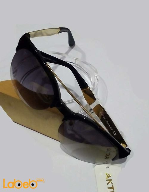 نظارات شمسية Vintage إطار أسود عدسة سوداء موديل VIT-01
