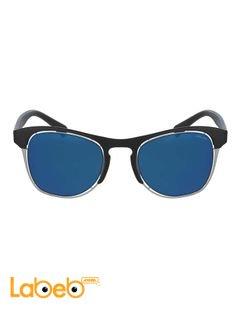 نظارات شمسية Police - للرجال - إطار أسود - عدسة زرقاء - موديل OFFSIDE