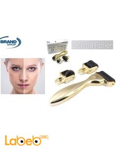 Derma Roller Wrinkle Removal Device - 3 separate roller heads