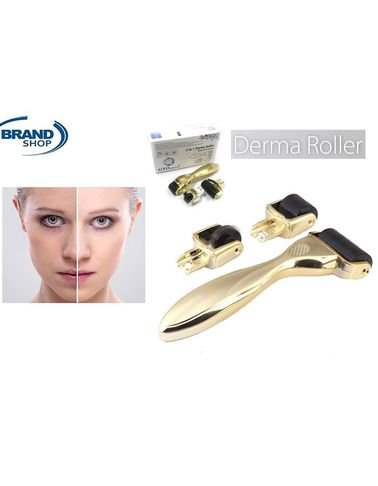 Derma Roller Wrinkle Removal Device 3 separate roller heads