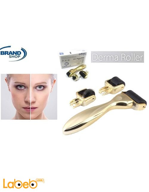 Derma Roller Wrinkle Removal Device 3 separate roller heads
