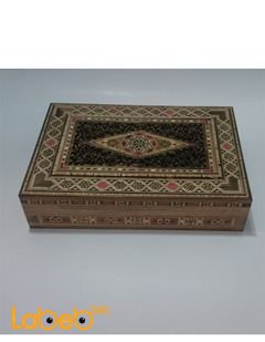 Carved Wooden Mosaic Inlaid Box - rectangle - box for jewelry