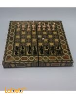 Wooden chess, backgammon set board folding (medium)