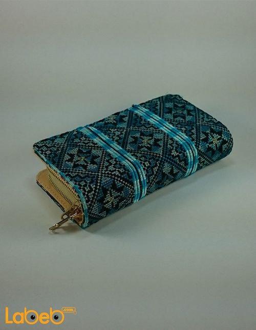 محفظة مطرزة مناسبة للنساء لون فيروزي