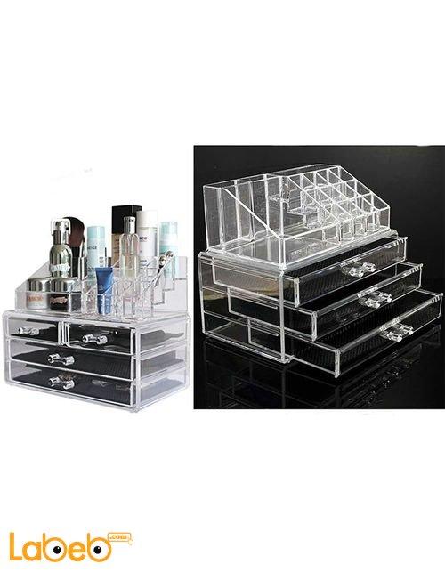 Acrylic Jewelry Organizer Drawer Makeup Display Holder Storage