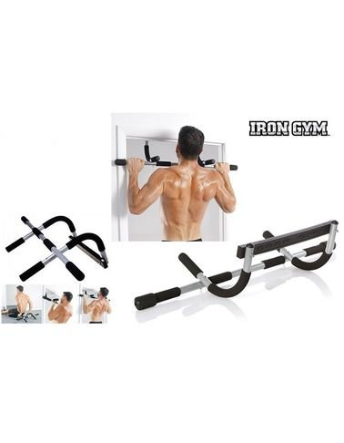 Iron Gym Total Upper Body Workout Bar - Up to 130Kg