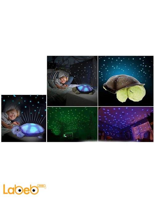 السلحفاه المضيئة مع موسيقى للاطفال 4 ألوان منفذ USB