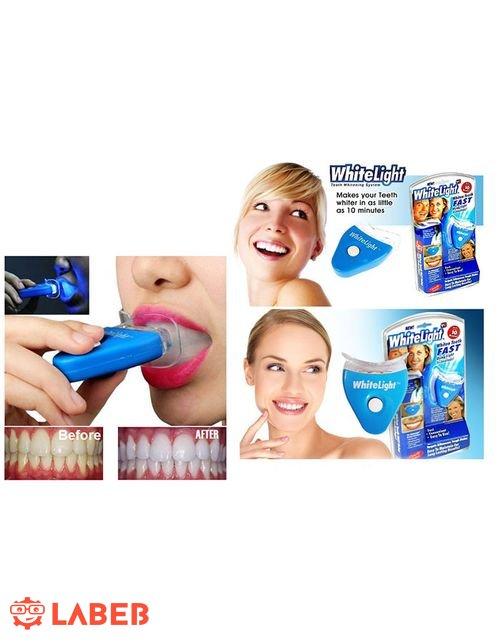 جهاز ليزر منزلي تبييض الاسنان وايت لايت نتائج خلال 10 دقائق