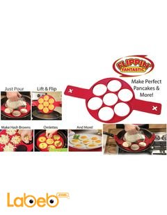 Flippin fantastic Silicone pancakes mold & more - With 7 circles