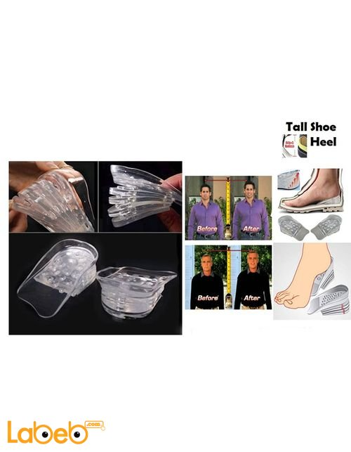 Tall Shoe Heel 5 Layers Taller Insole Silicone up to 5cm