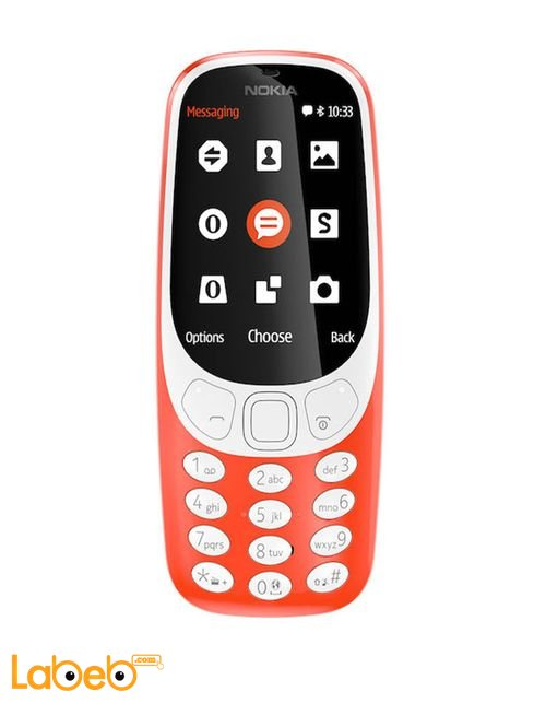 موبايل نوكيا 3310 (2017) ذاكرة 16 ميجابايت 2.4 انش لون برتقالي