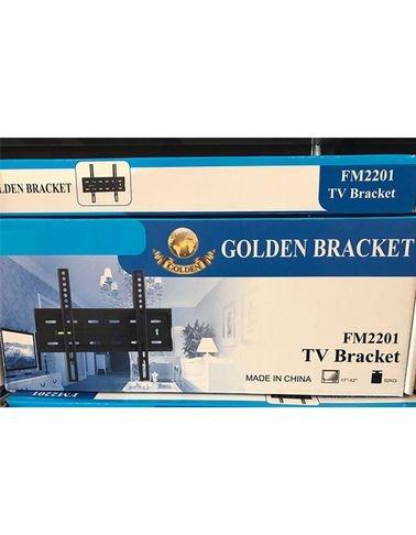 حاملة شاشة Golden - ثابتة - حجم 17-42 انش - لون أسود - FM2201
