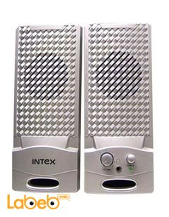 Intex computer multimedia speaker - 2x2W - Silver - IT-320