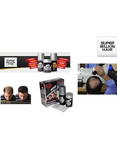 Super Billion Hair used for filling the bald or thin areas