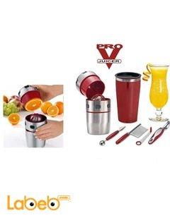 عصارة الفواكه المنزلية PRO V JUICER - مع ادوات تزيين بروفي