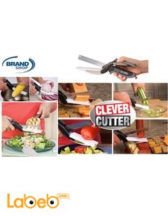 مقص الخضروات والفواكه العجيب 2 *1 كليفر كتر - سكين وقاعده بلاستيك