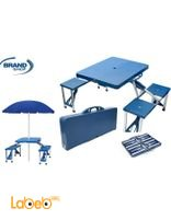 طاولة شنطة قابلة للطي مع 4 كراسي للرحلات والحدائق