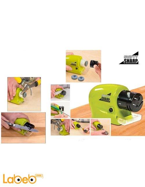 جهاز مسن وشحذ شفرات السكاكين والمعدات الحادة سويفتي شارب أخضر