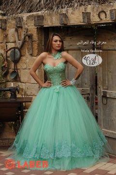 فستان سهرة - لون توركيز