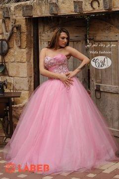 فستان سهرة - لون وردي