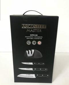 סט סכינים + משחיז ארקוסטיל 4 חלקים.