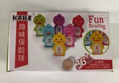 Fun Bowling, משחק בולינג חוויתי ואיכותי עשוי מעץ שמתאים לילדים קטנים מגיל שנה וחצי ומעלה.