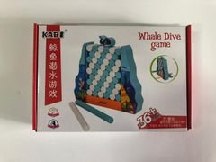 Whale Dive game, משחק חשיבה איכותי וחוויתי שדורש רגישות ותשומת לב של הילדים, מגיל שנה וחצי ומעלה.