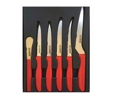 סט שכולל 6 סכינים מקוצעיים, STAINLESS STEEL