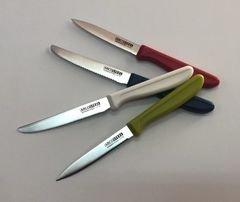 """4 סכינים פרו שירות, להב 10 ס""""מ, סכין לחיתוך עדין ונקי של פירות, ירקות, מאפים ובשר."""