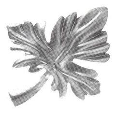 פירזול עלים, פרחים וחרוזים - 115*100mm   - כמות 10 יחידות