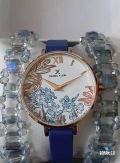 ساعة دانيل كليني كستك جلد  ازرق اصلي