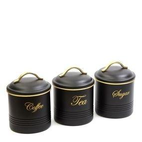 ثلاث اوعية لحفض الشاي و القهوة و السكر