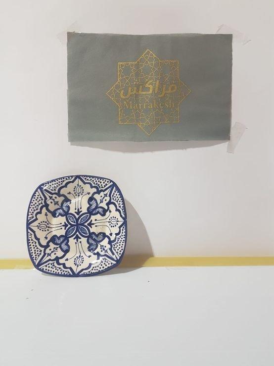 צלחות מרוקאית צבעונית