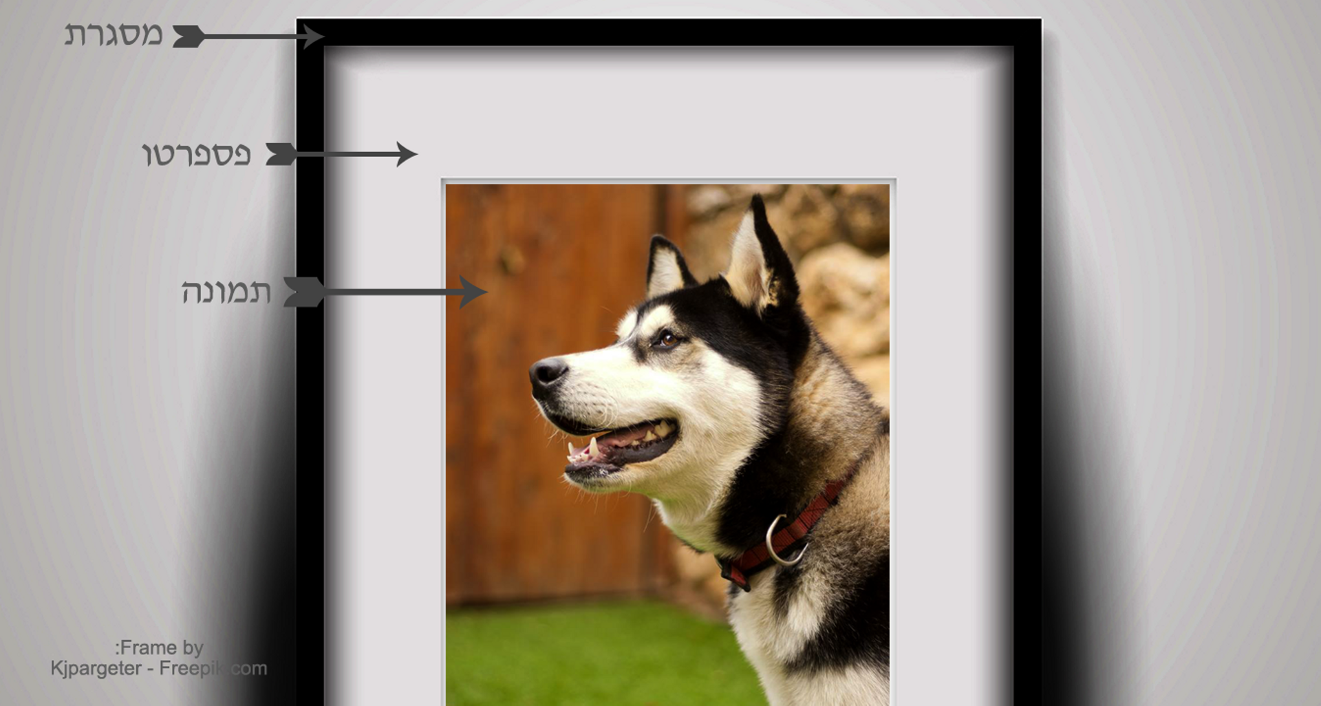 =מסגרת תמונה איכותית דגם FR91092, כולל הדפסת תמונה.