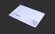 """מעטפות גודל  18/25 ס""""מ הדפסה צבעונית במדפסת."""