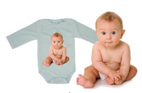 בגד גוף ארוך עם תמונה לתינוק 100% כותנה בפנים!