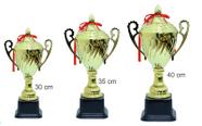 """גביע אליפות.. מעמד הוקרה עם הדפסת תמונה או טקסט. אורך 35 ס""""מ."""