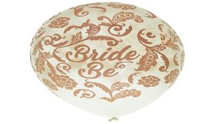 بالون طباعه bride to be  روز جولد 100 قطعة
