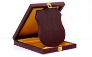 מגן הוקרה מעוצב מעץ איכותי ביותר לשולחן עם רגלית  או לתלייה דגם 462..