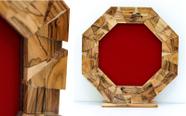 מגן הוקרה מעוצב מעץ זית עבודת יד איכותי ביותר דגם 491..