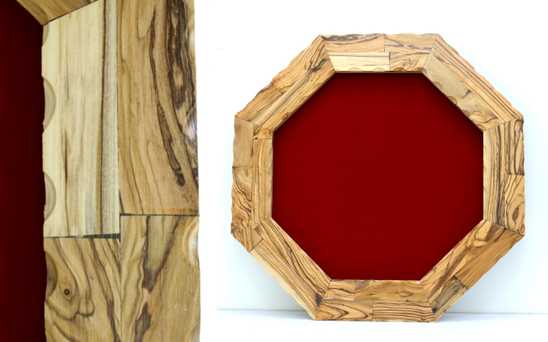 מגן הוקרה מעוצב מעץ זית עבודת יד איכותי ביותר דגם 507..
