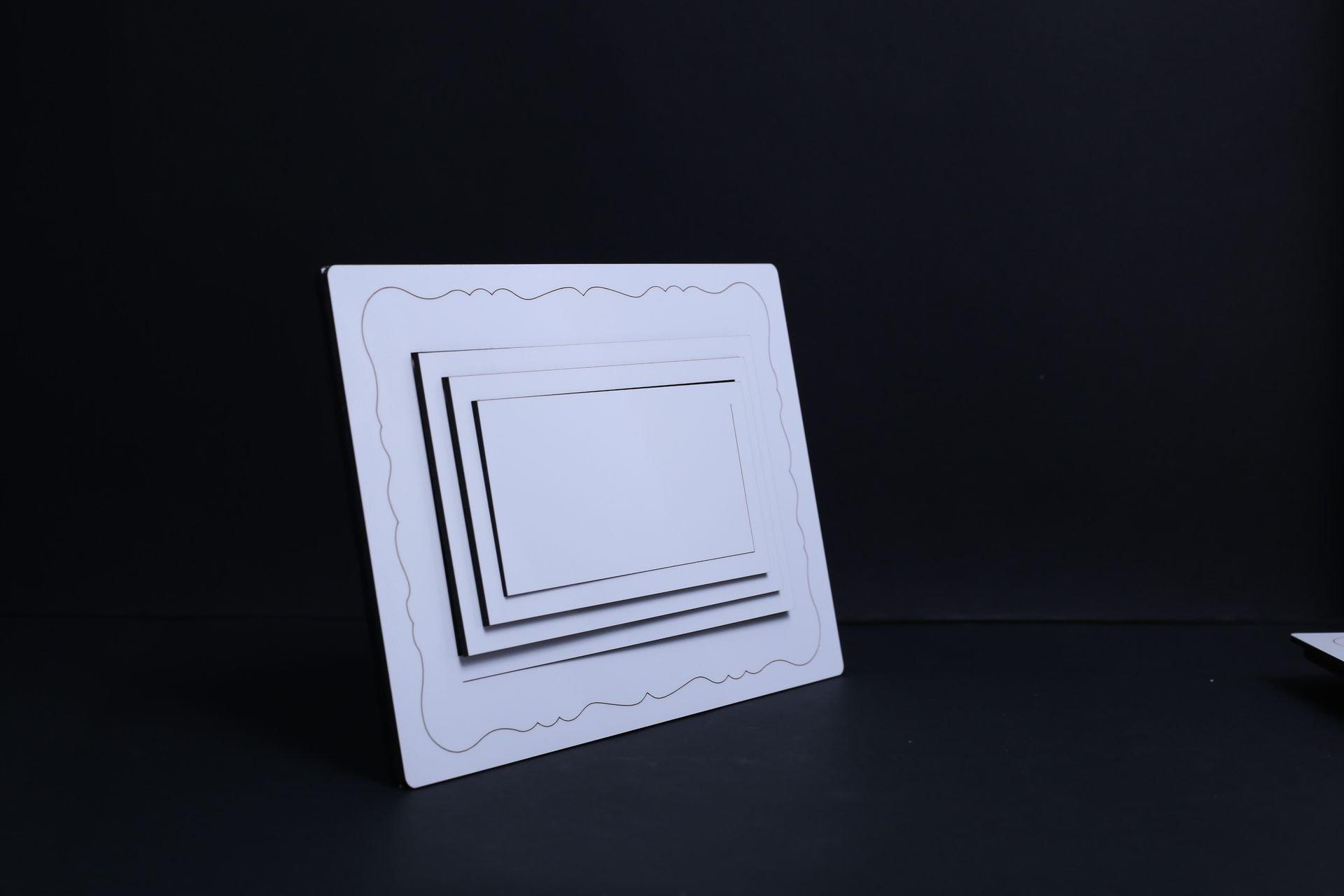 מגן  - מסגרת תמונה לשולחן, מלבן, תלת מימד להדפסת תמונה באיכות פוטו.