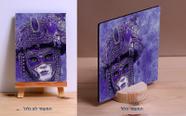 """מלבן 18*13 ס""""מ מעץ איכותי והדפסת תמונה באיכות פוטו.בשכיבה/בעמידה.."""