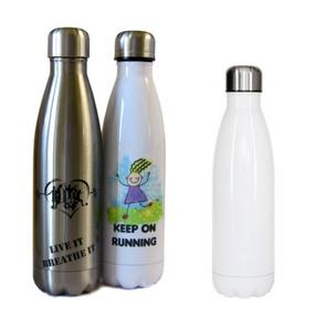 בקבוק באולינג לבן לשתייה קרה עם הדפסת תמונה באיכות פוטו!