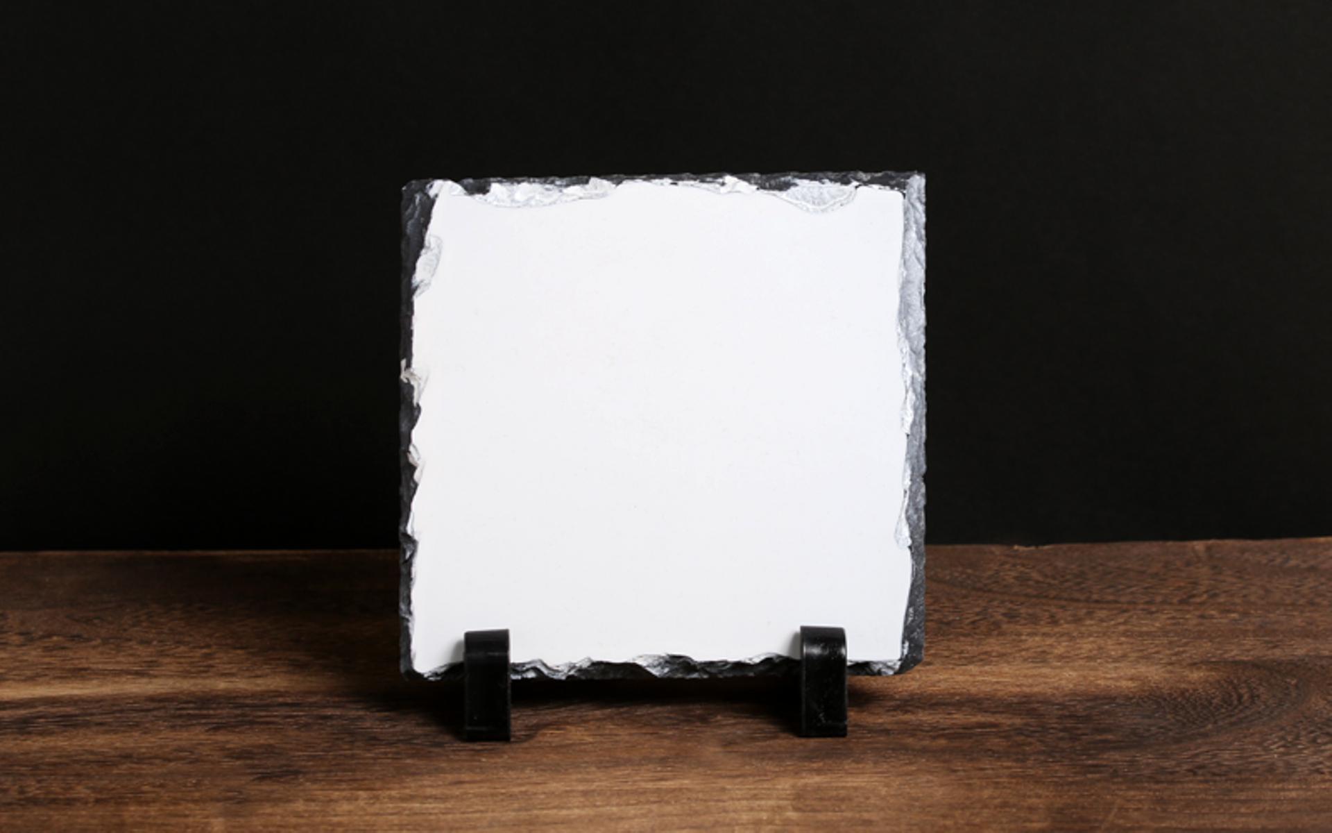 """מגן איכותי מאבן בזלת יוקרתי  עם תמונה באיכות פוטו גודל 13*13 ס""""מ!"""