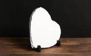 מגן איכותי מאבן בזלת צורת לב, יוקרתי עם תמונה באיכות פוטו גודל 10*19.