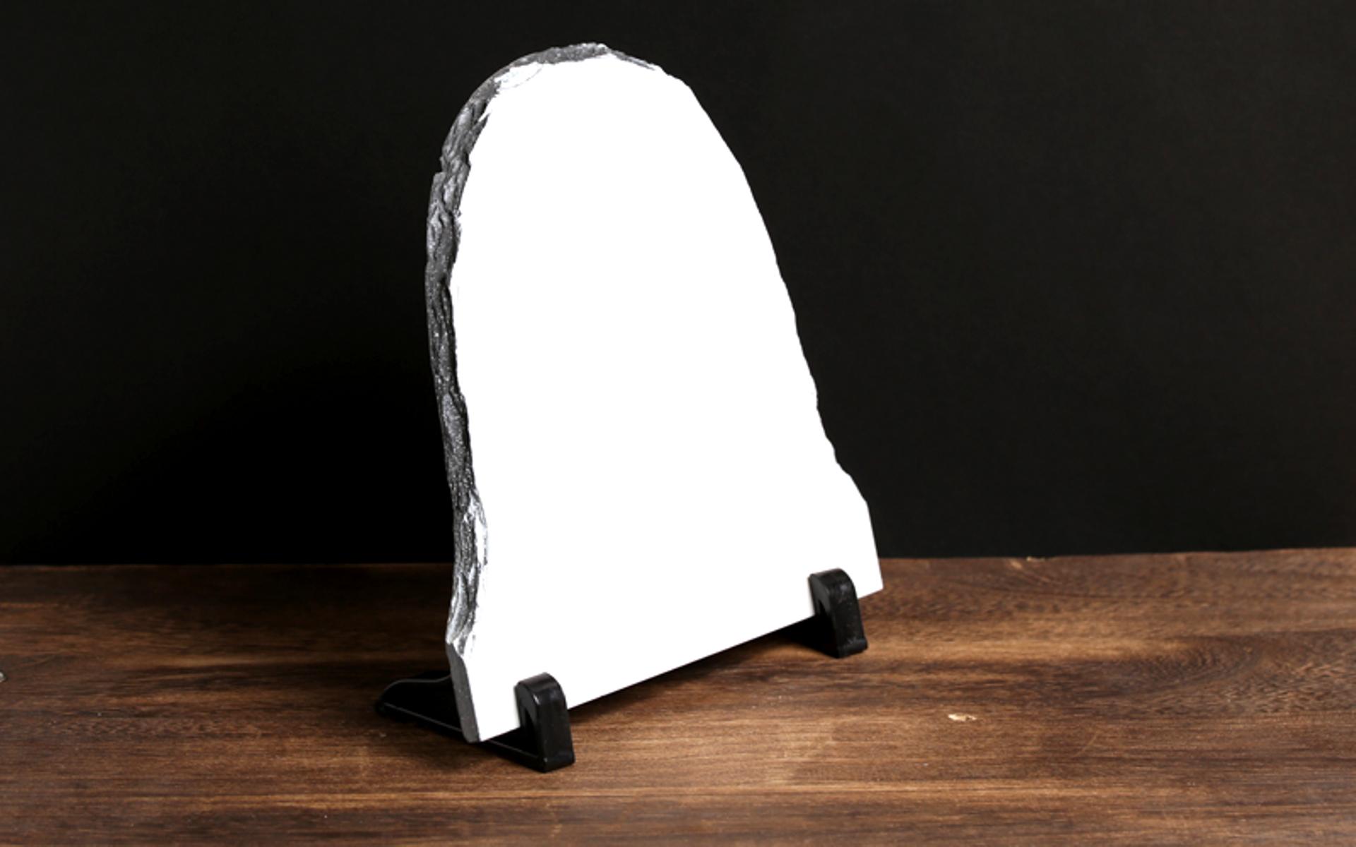 מגן איכותי מאבן בזלת צורת כיפה, יוקרתי עם תמונה באיכות פוטו גודל 30*20