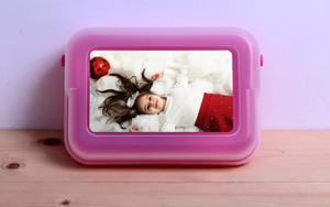 קופסת אוכל לבית ספר וטיולים צבע ורוד עם הדפסת תמונה איכותית!