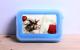 קופסת אוכל לבית ספר וטיולים צבע כחול עם הדפסת תמונה איכותית!